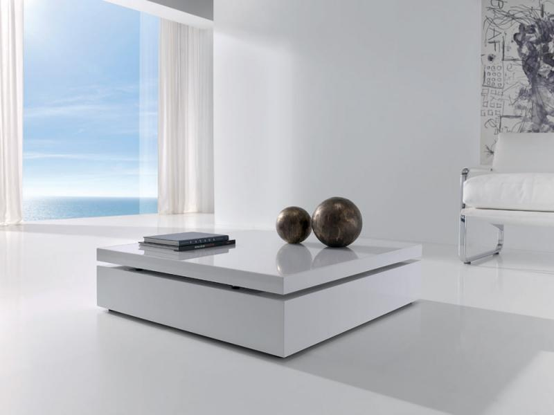 Mesa de centro elevable raf for Mesa de centro blanca